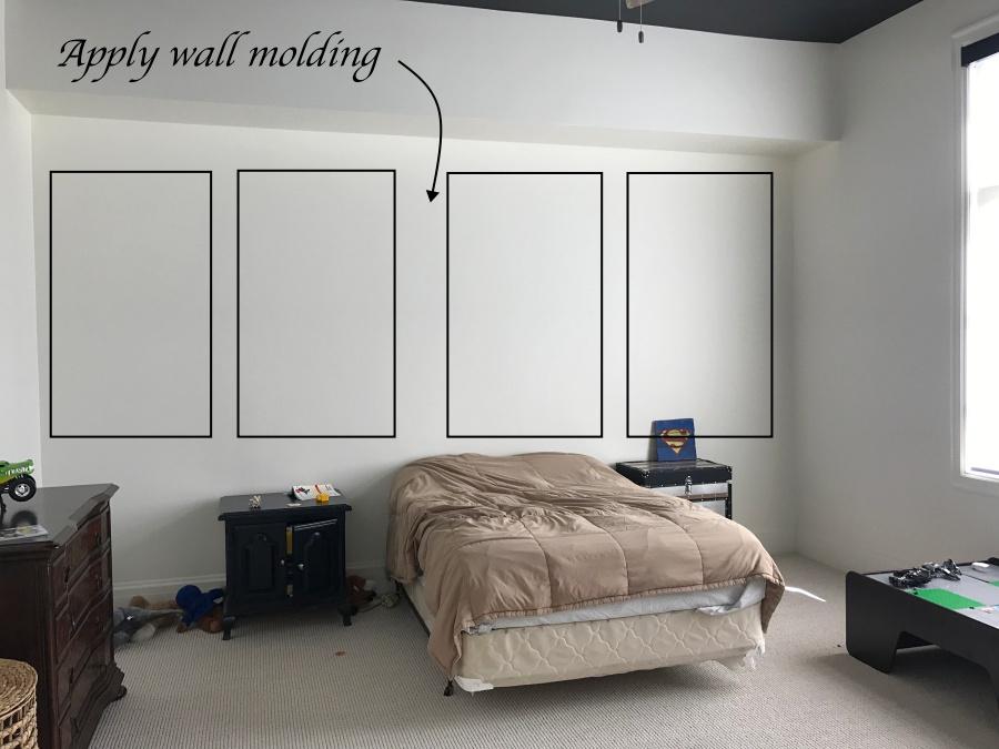 blank slate boy's room