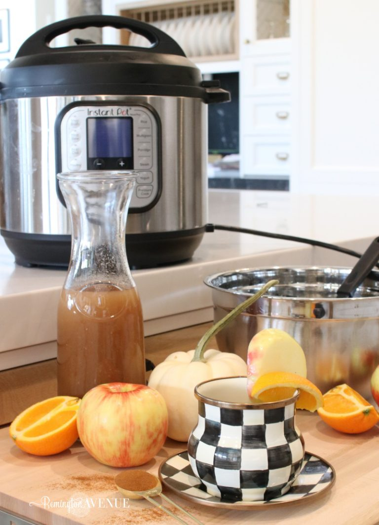 Instant pot spiced cider with oranges