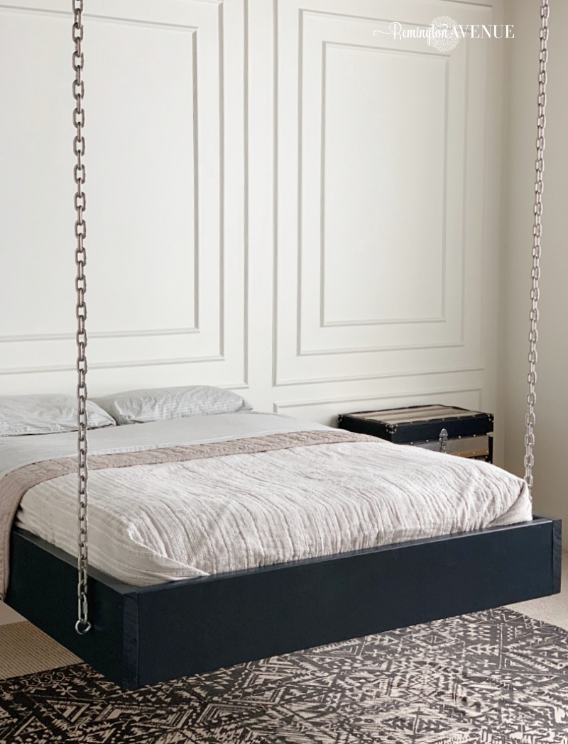 how to build a suspended bed- hanging bed.