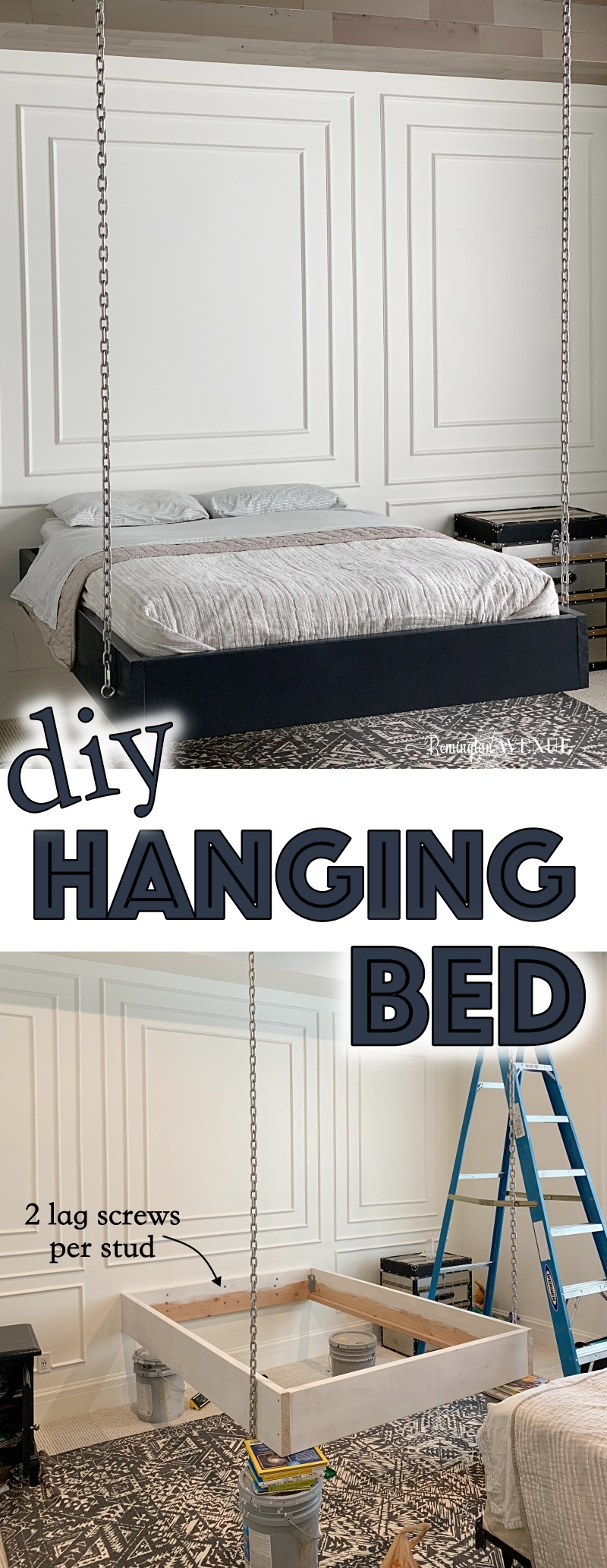 how to build a suspended bed - hanging bed