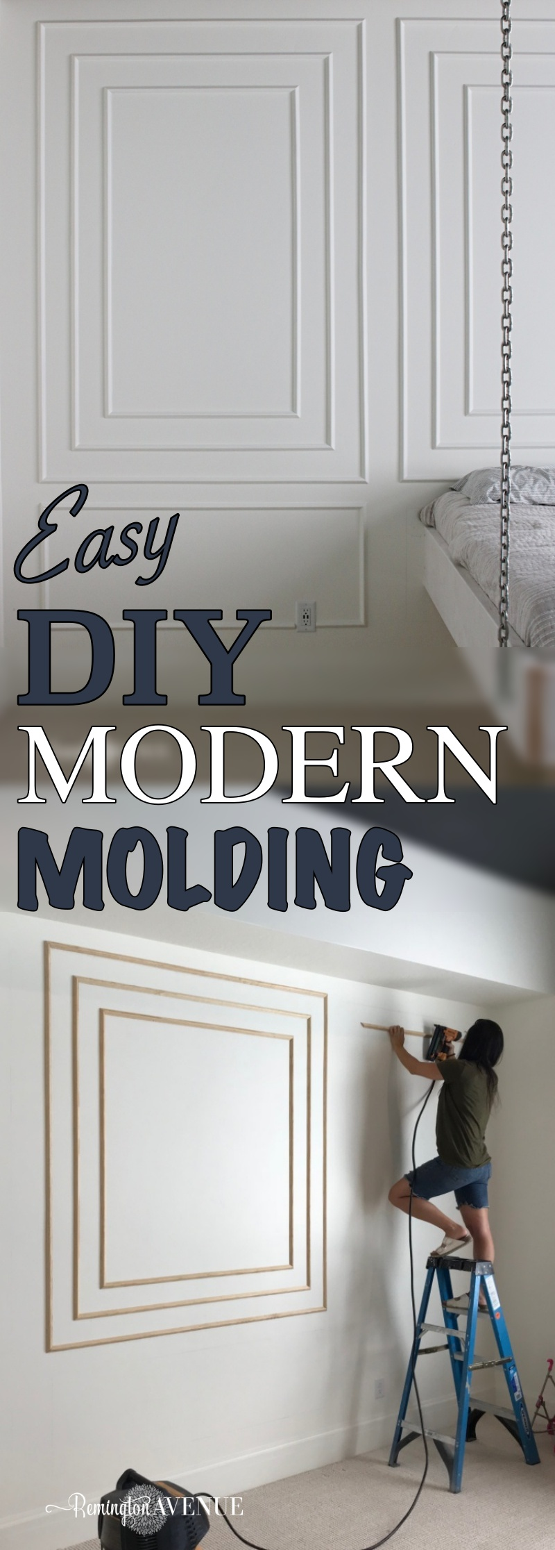 How To Install Modern Wall Molding Remington Avenue