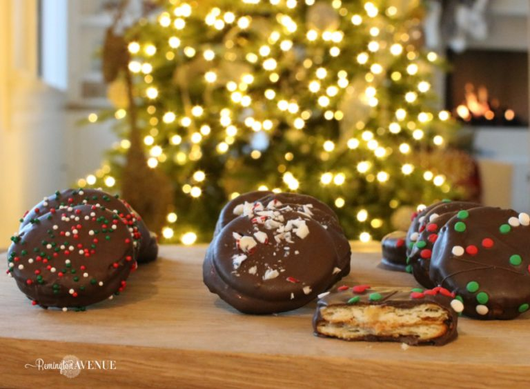 Chocolate covered Peanut butter Ritz crackers