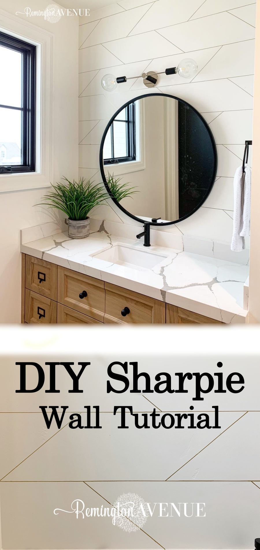 easy geometric sharpie wall tutorial