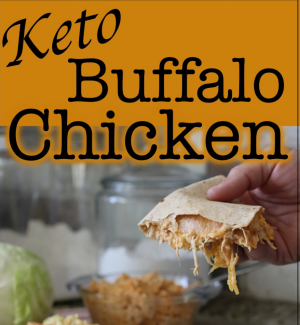 keto buffalo chicken quesadilla