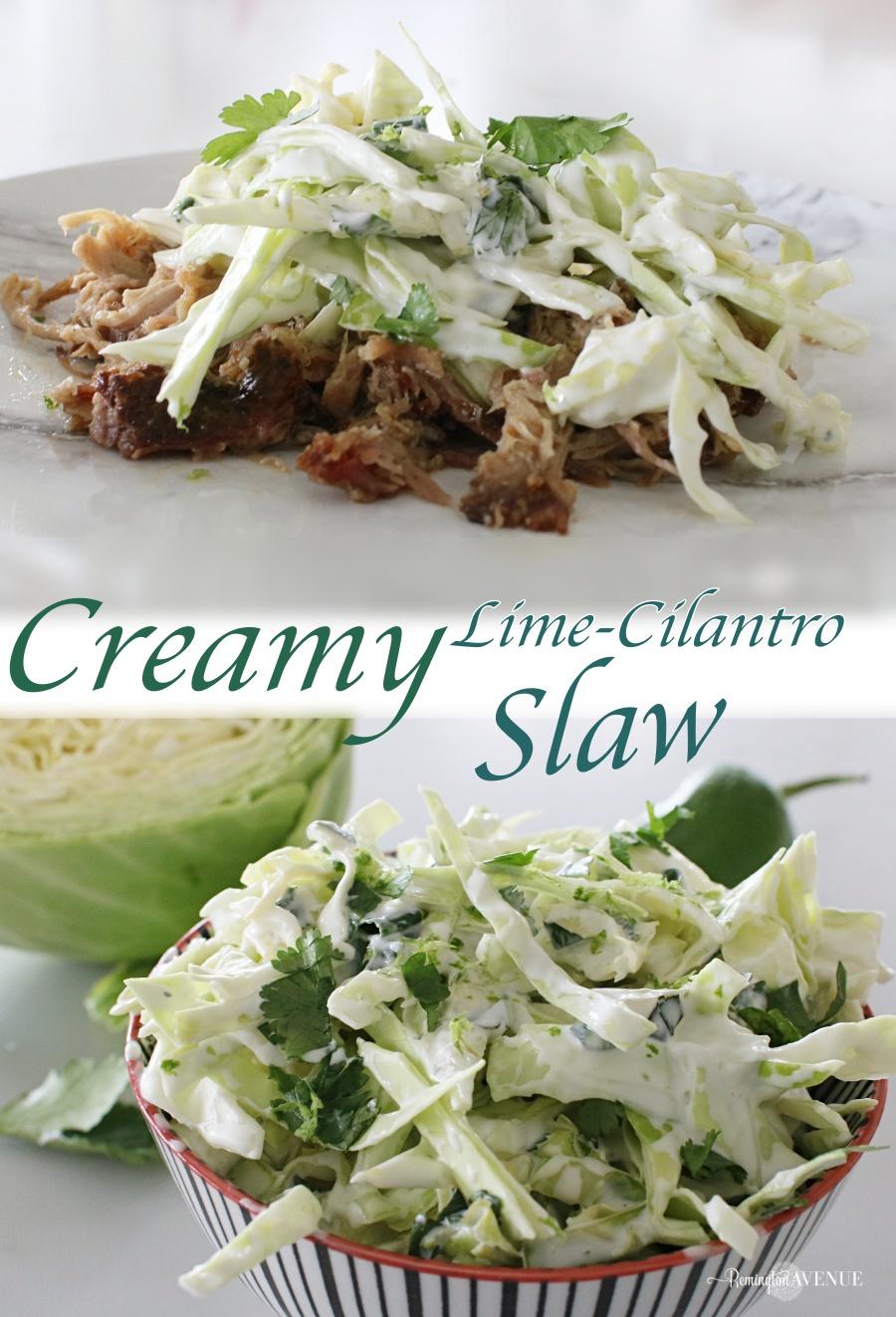 Creamy Lime-Cilantro Slaw Recipe