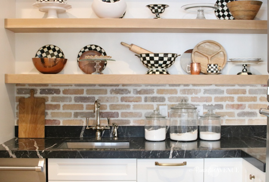 Kitchen Update- German Smear Brick Backsplash