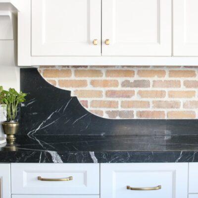 Kitchen Update- German Smear Brick Backsplash