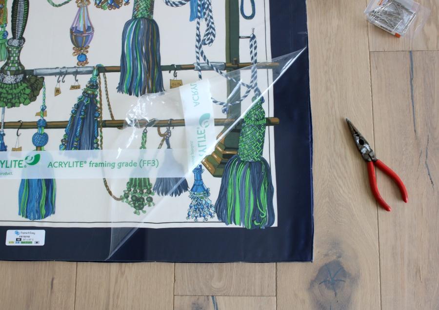 How to Frame a Vintage Silk Hermès Scarf