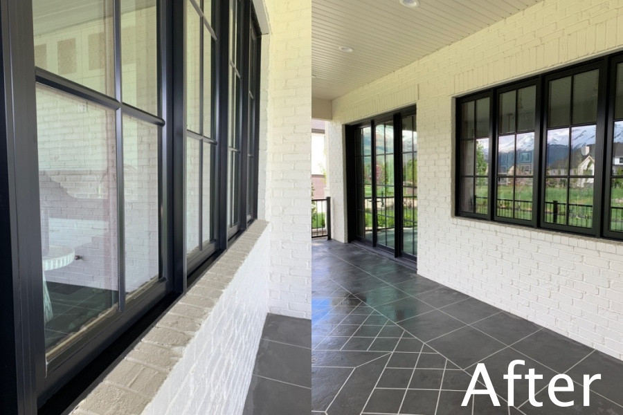 Spring Cleaning my Outdoor Patio and windows after