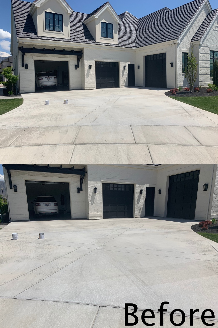Adding Curb Appeal with a Painted Driveway before