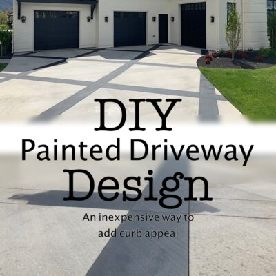 Adding Curb Appeal with a Painted Driveway