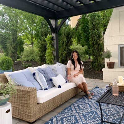Loveliest Looks for Summer Tour + Blue French Country Patio