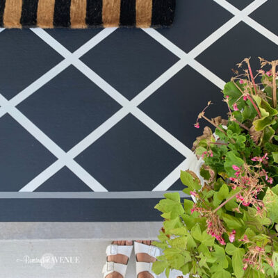 How to paint a porch or patio rug