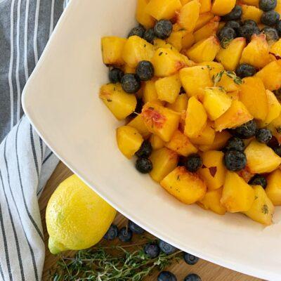 Peach blueberry Thyme Salad