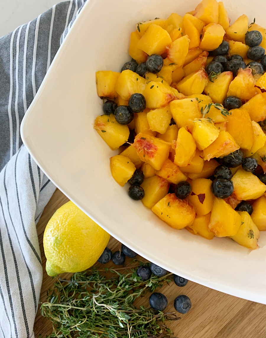 peach blueberry salad with fresh thyme recipe