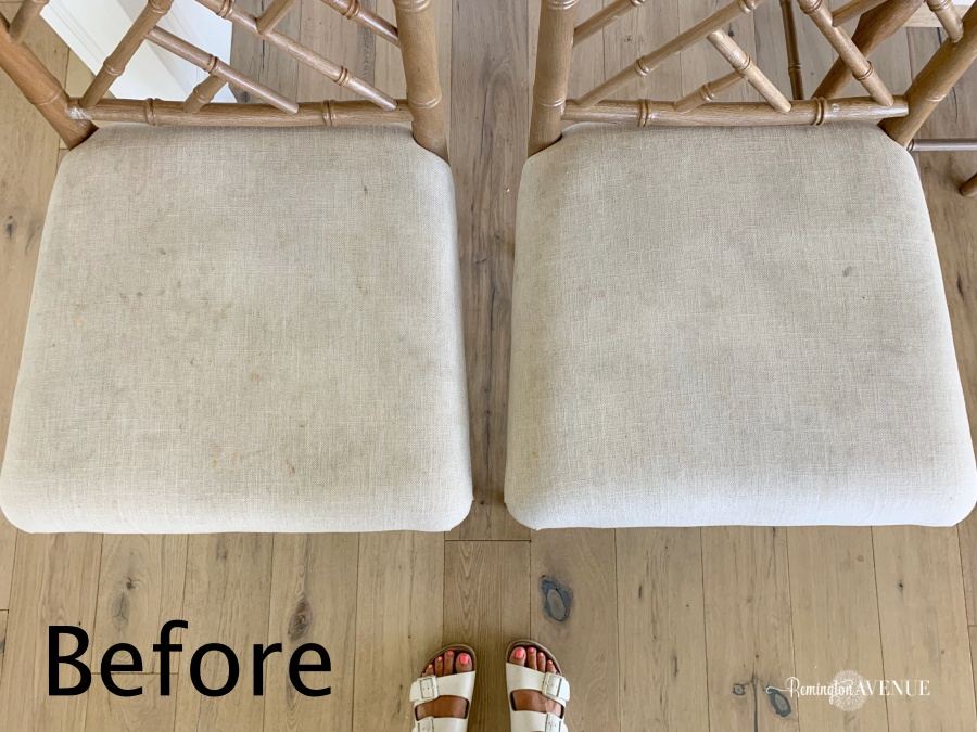How to reupholster bar stools to be kid friendly before