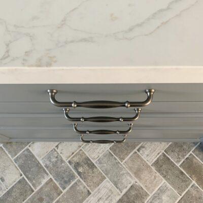 Laundry/Mudroom with Herringbone Brick Floor