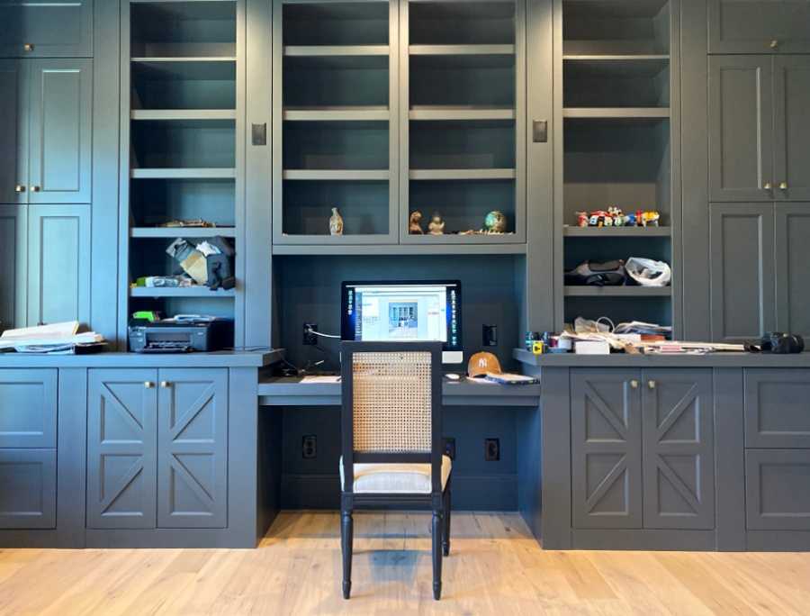 globally inspired library -home office