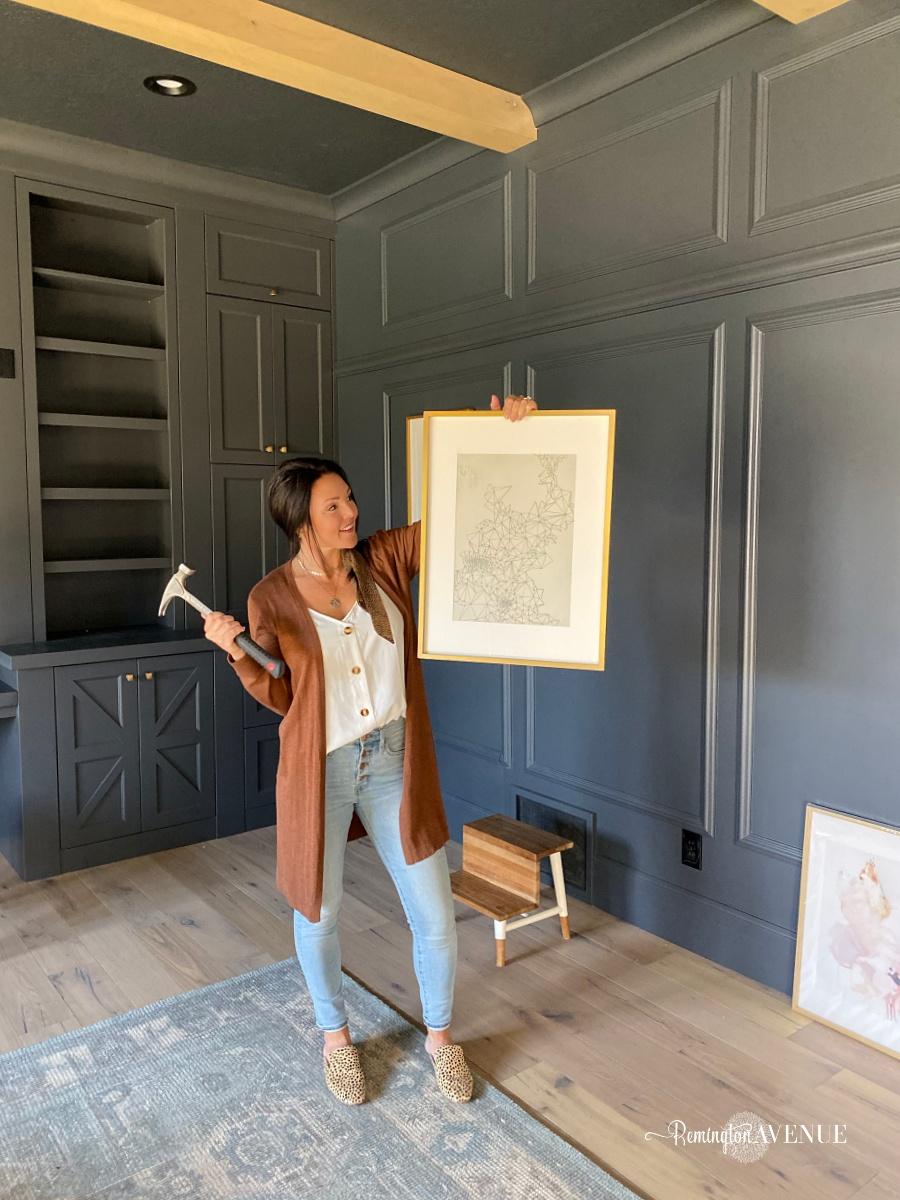 Diy home art gallery