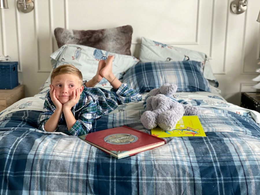 fall bedding for boy bedroom