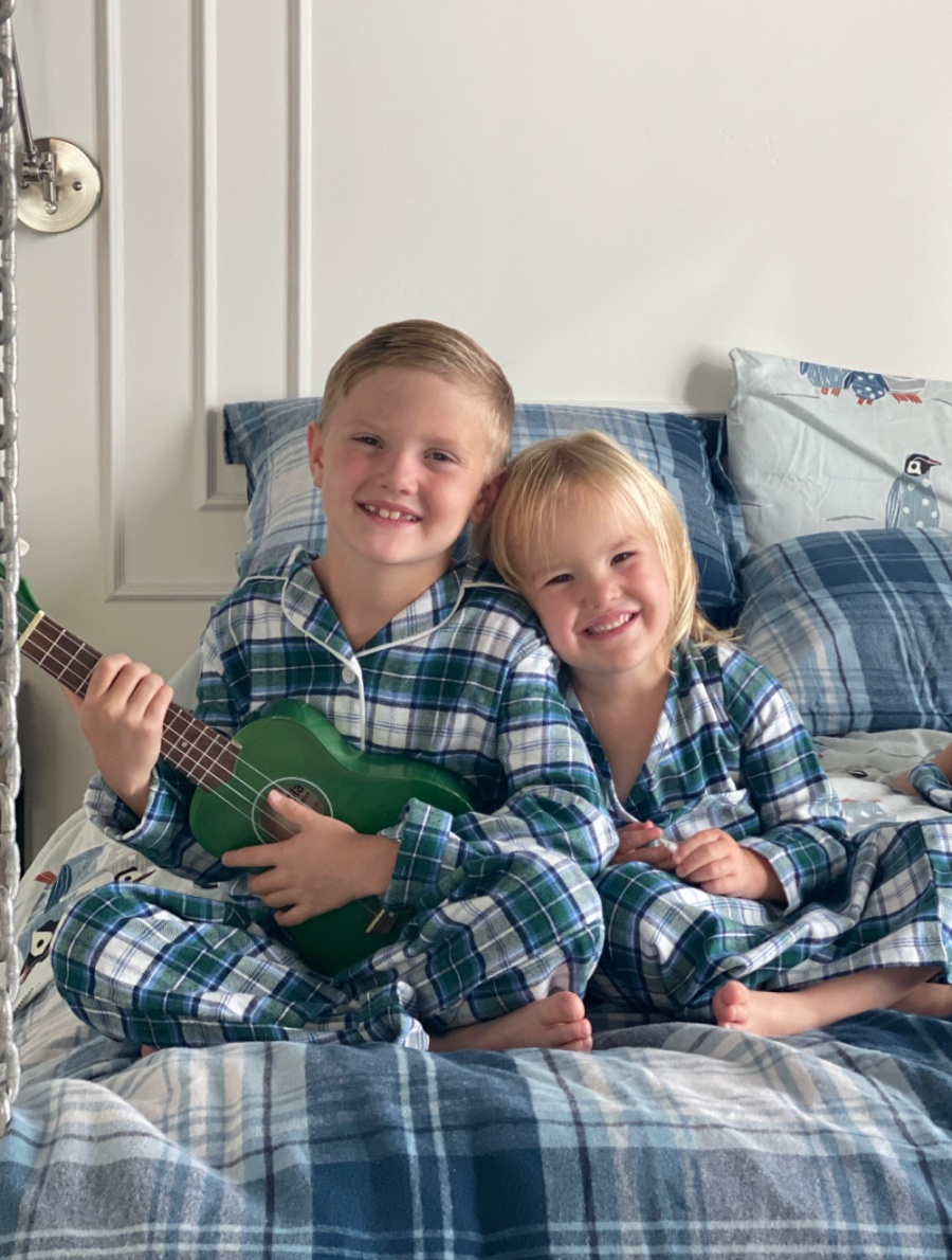 matching family flannel pajamas for fall