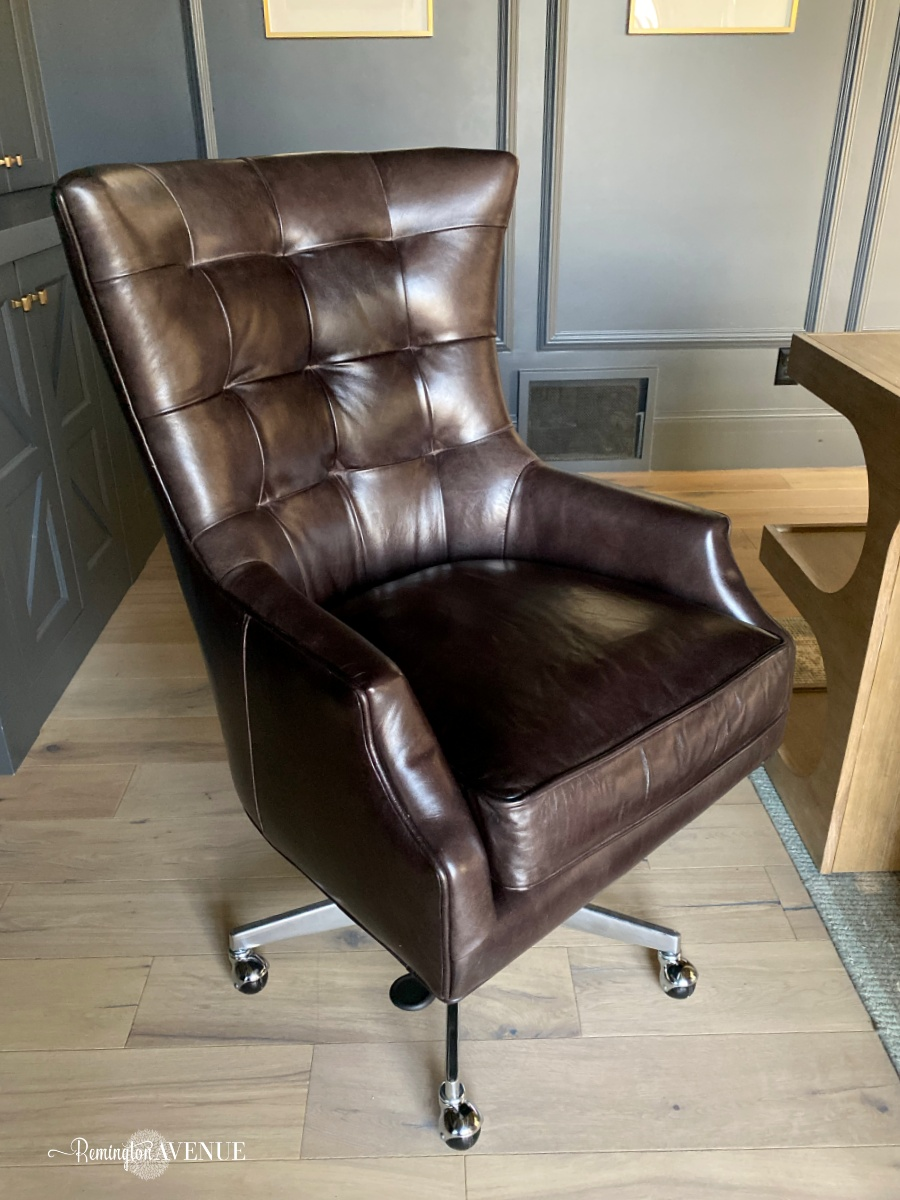 dark leather office chair