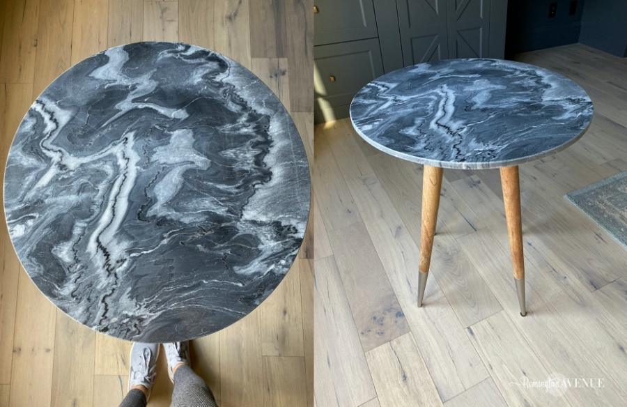 masculine and femanine design styles - side table