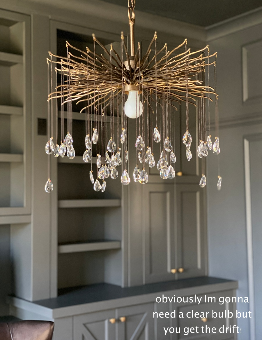 feminine abstract chandelier