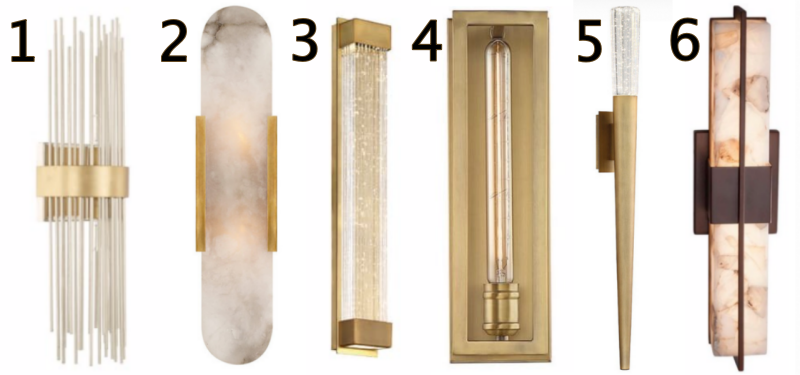 home office sconce options