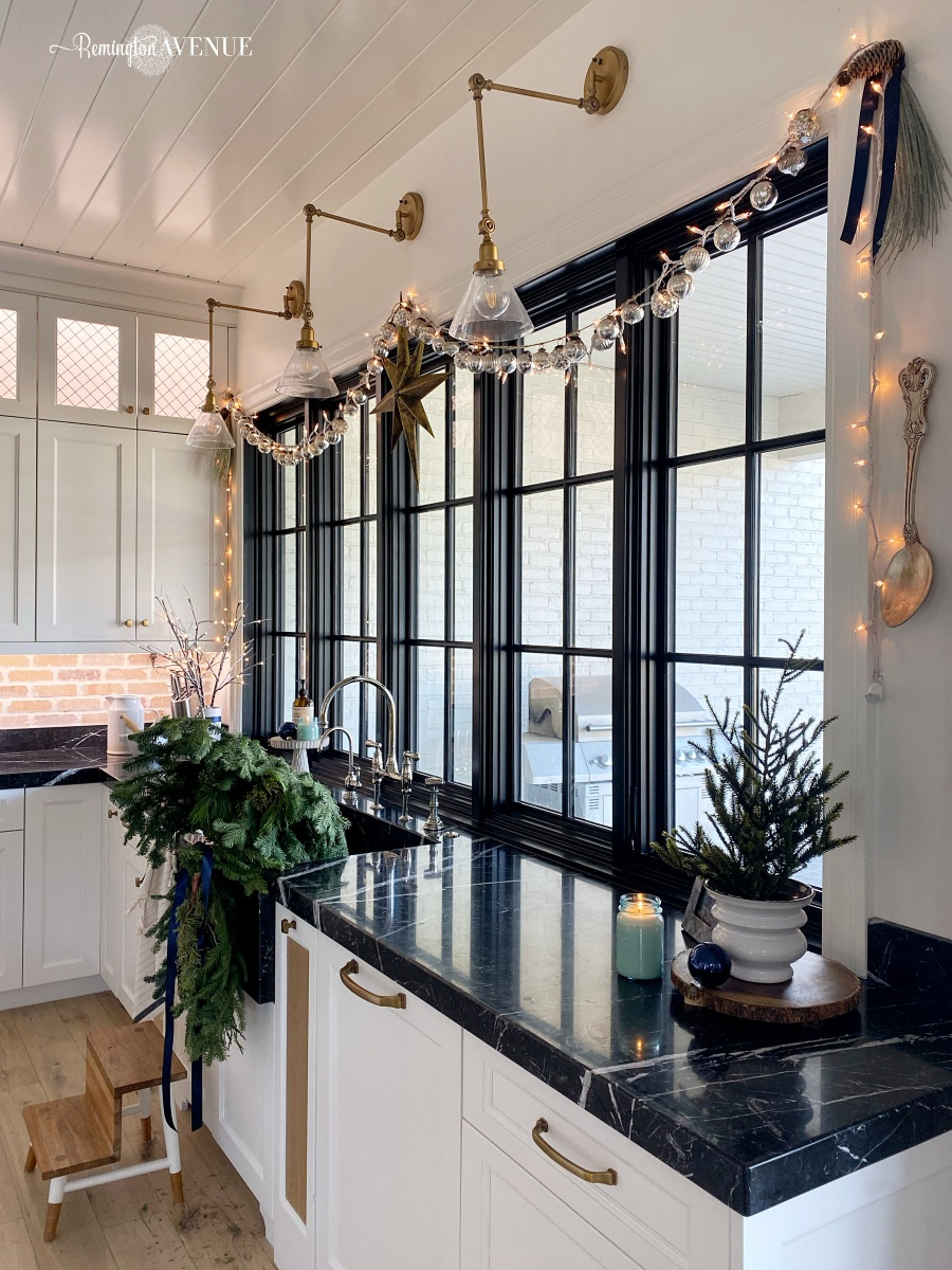 festive christmas kitchen