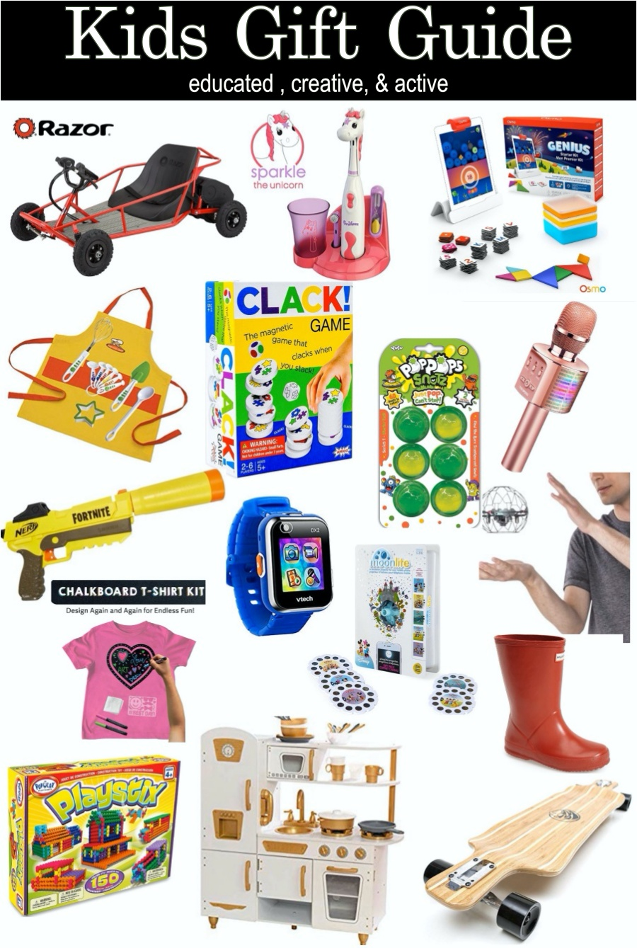 kids holiday gift guide- keep them active, create, and educated