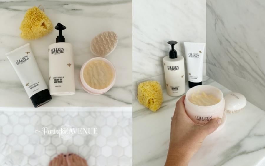 my daily skin care routine- weekly hair mask & body scrub