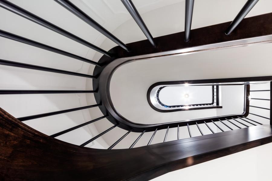 ebony black spiral staircase