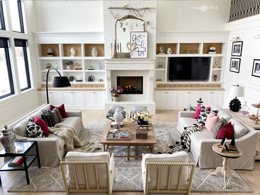 Chic valentines day decor- living room ideas