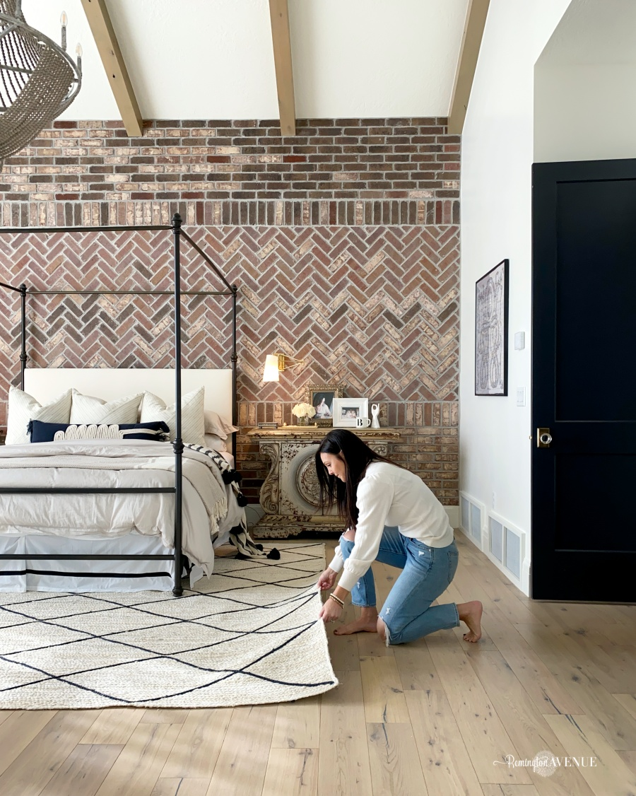 changing out a rug can really make a design impact