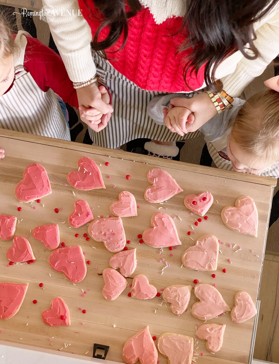 valentines sugar cookies with almond extract