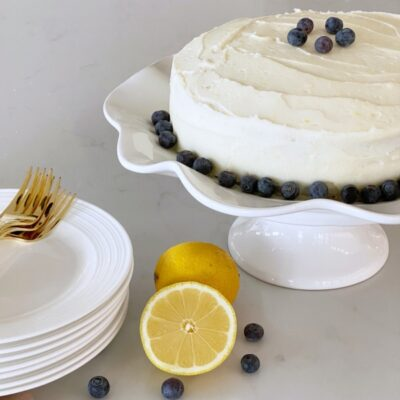 moist blueberry lemon cake