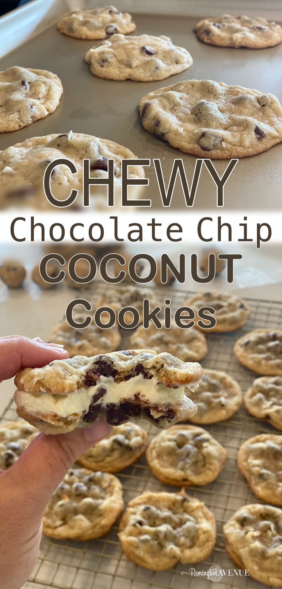 chewy chocolate chip coconut cookie recipe