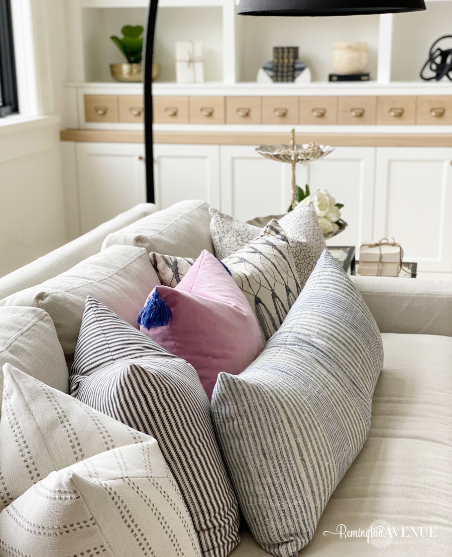 spring refresh with throw pillows