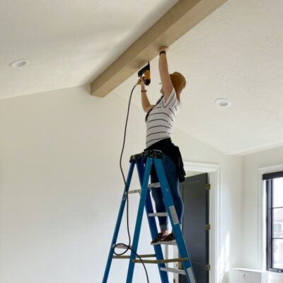 DIY Box-beams: Pitched ceiling