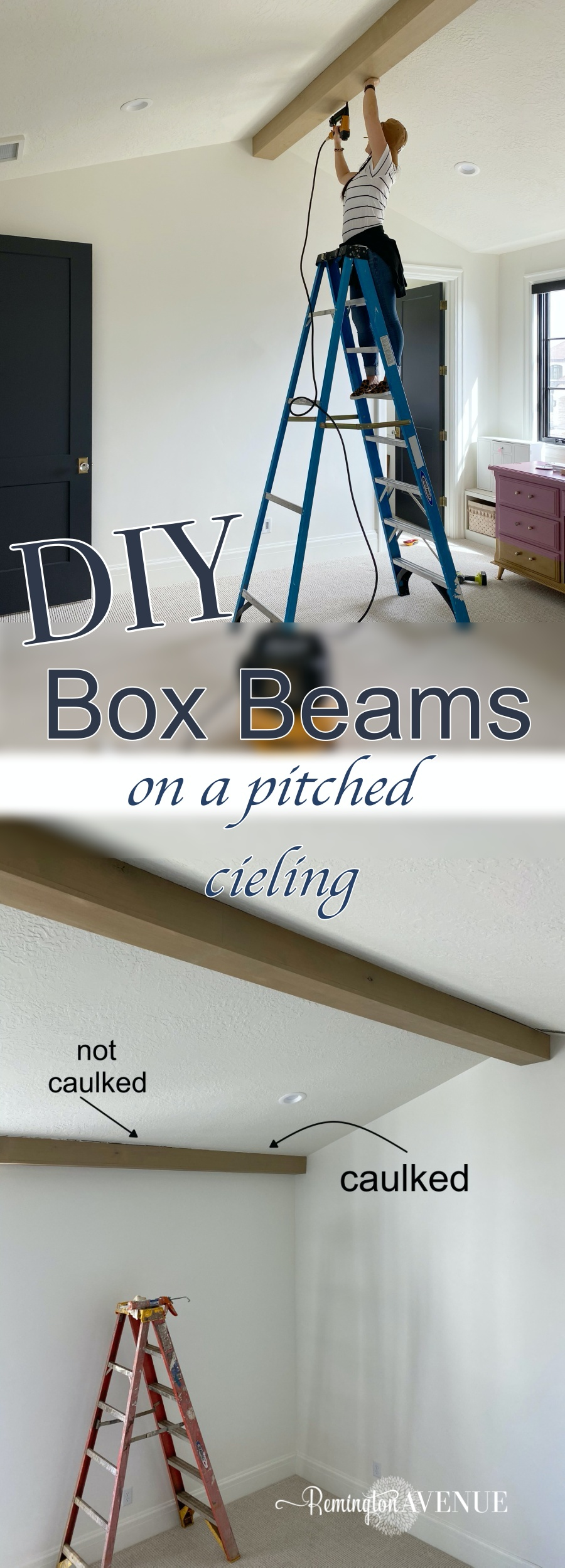 HOW TO BUILD BOX BEAMS ON A PITCHED CEILING