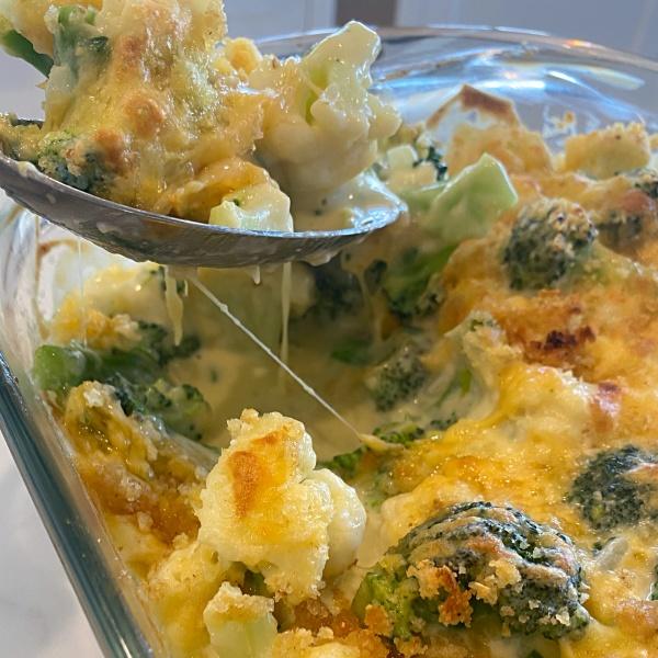 Keto Broccoli Cauliflower Cheese Bake Remington Avenue