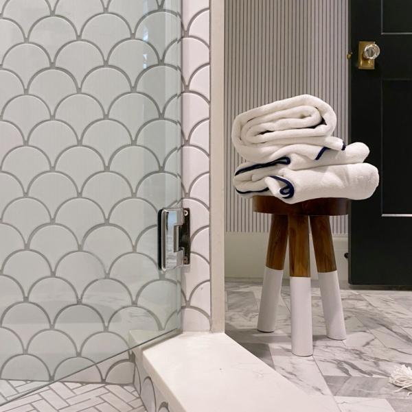 Marble Guest Bathroom Reveal
