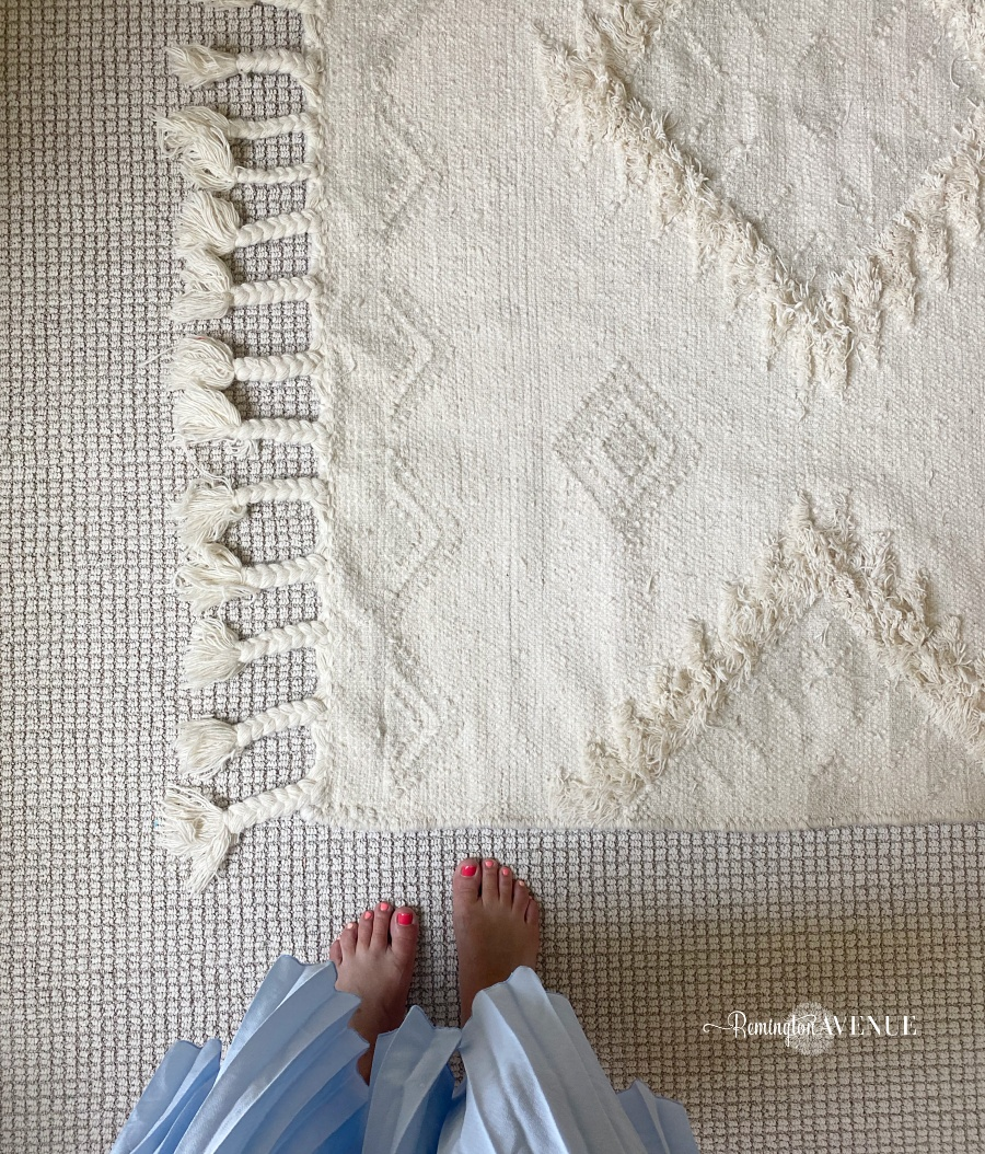 neutral nursery rug