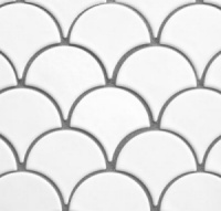 scallop shower tile