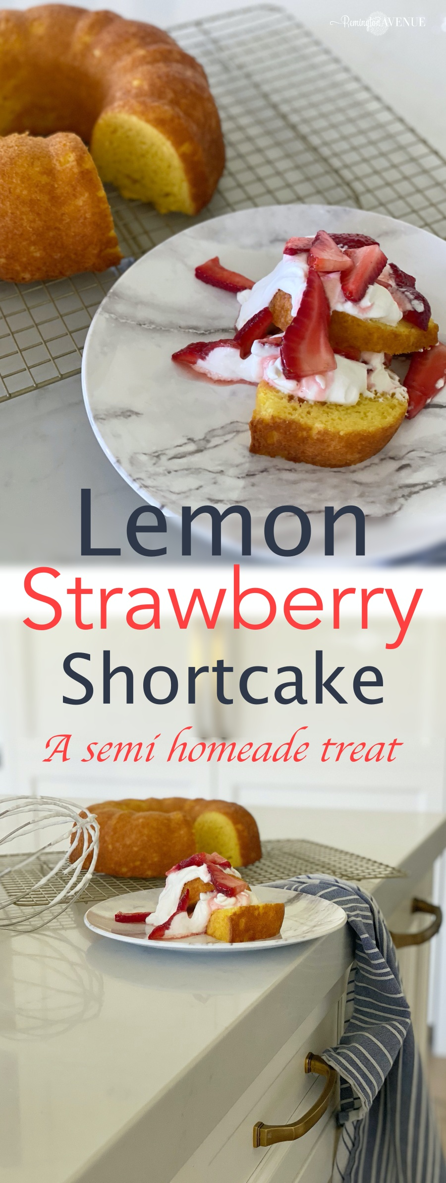 strawberry shortcake with lemon bundt cake recipe