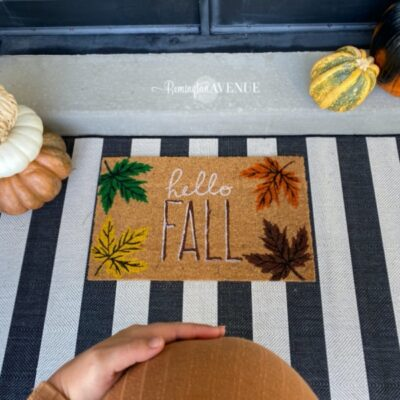 festive affordable fall front porch
