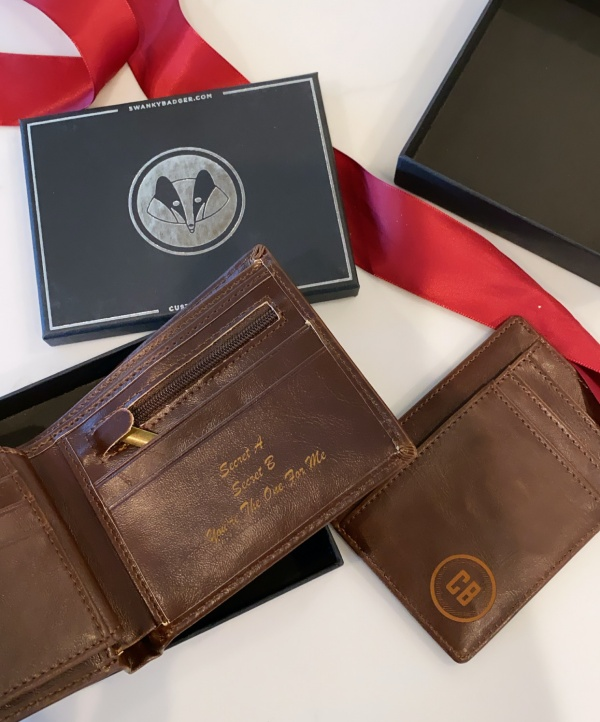 mens gift guide- personalized wallet