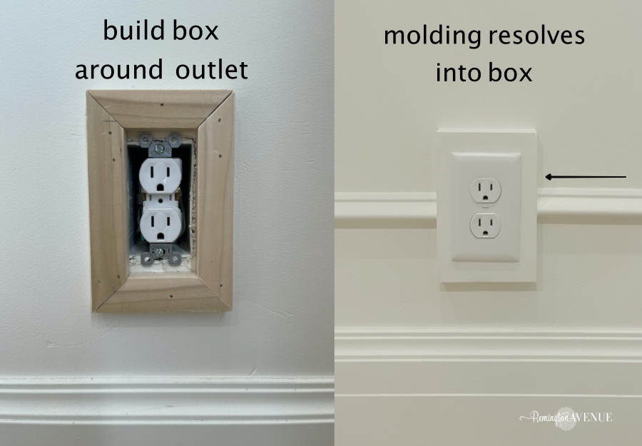 DISSOLVING WALL MOLDING INTO ELECTRICAL OUTLETS