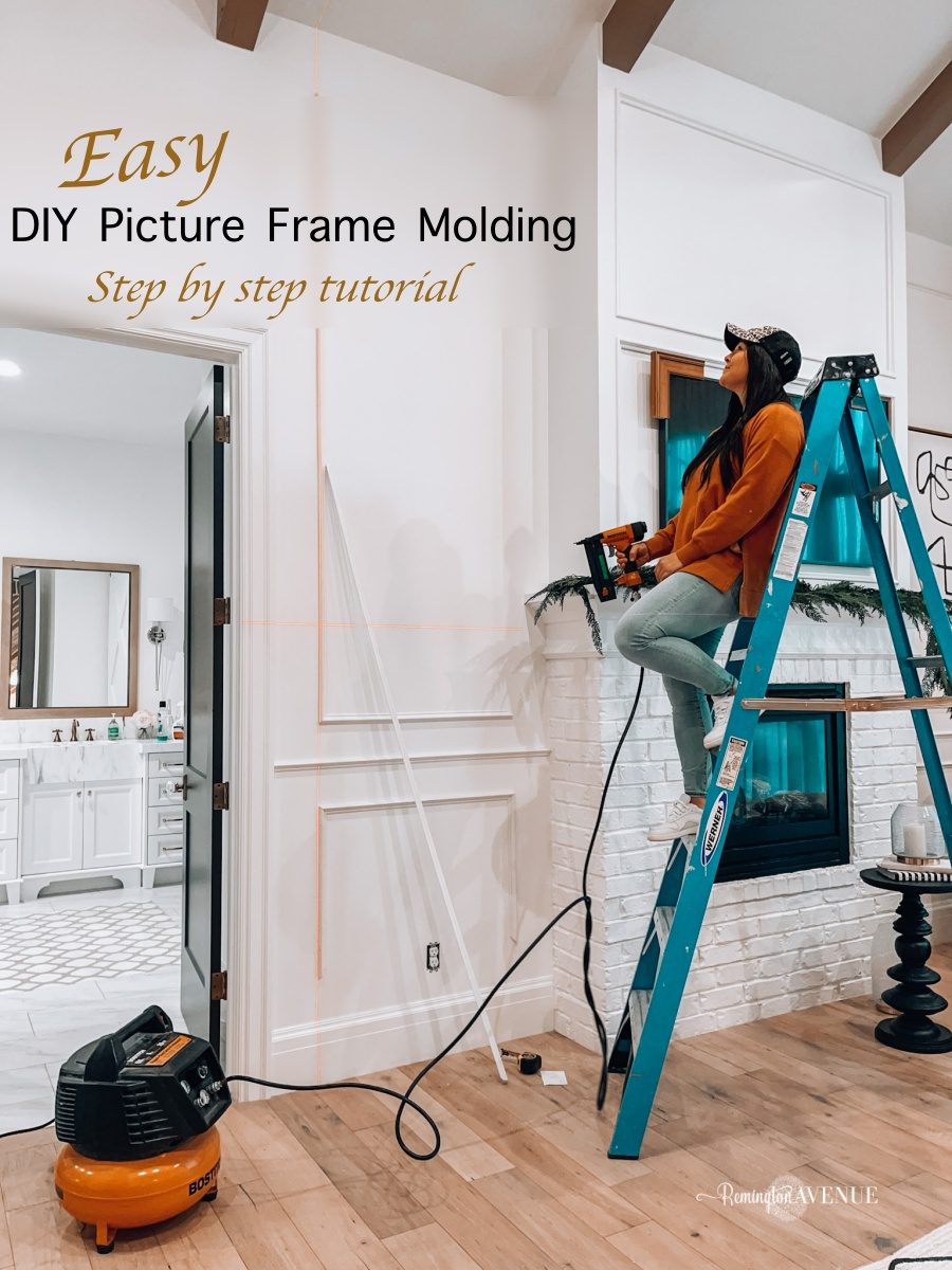easy diy picture frame molding tutorial